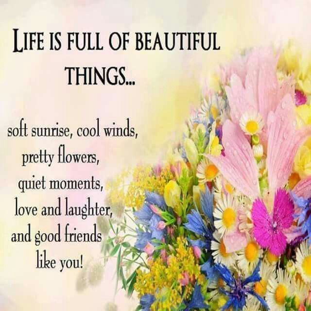 Life is full of beautiful things. 💗 Friends quotes