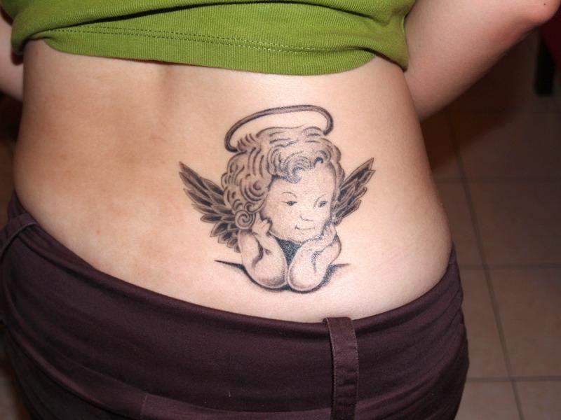 Petit Ange Tatouage Bas Du Dos Femme Tatouages Tatuaje Angel