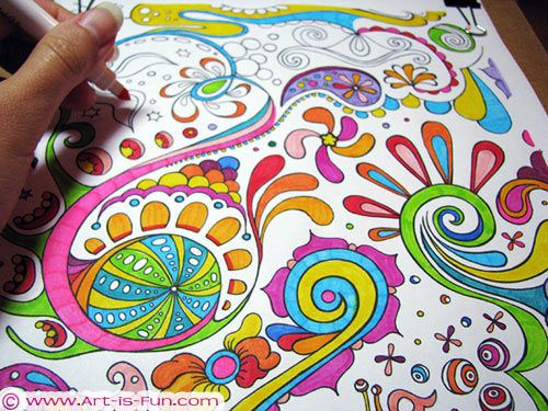 Big Abstract Coloring Pages : Free abstract coloring page to print by thaneeya mcardle omg i