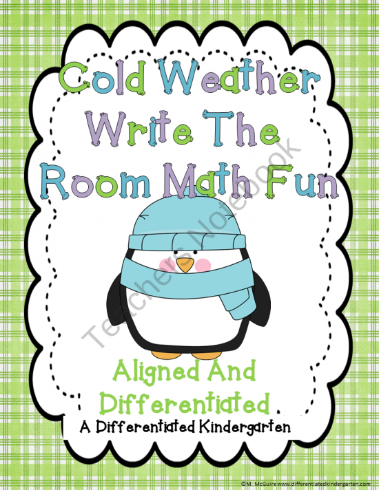 Cold Weather Write The Room Math Fun-Differentiated and Aligned ...