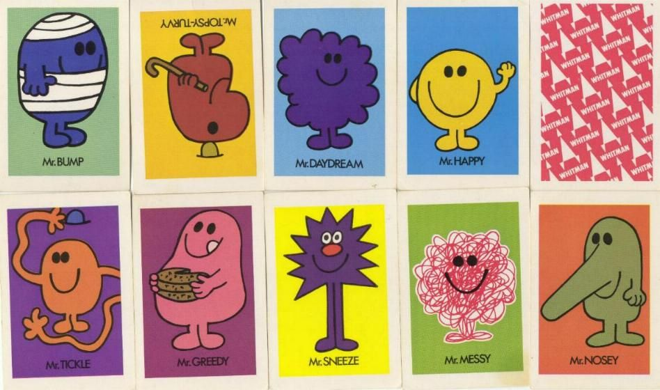 The Mr Men Playing Cards From 1975 Remember These Cards Little Miss Mr