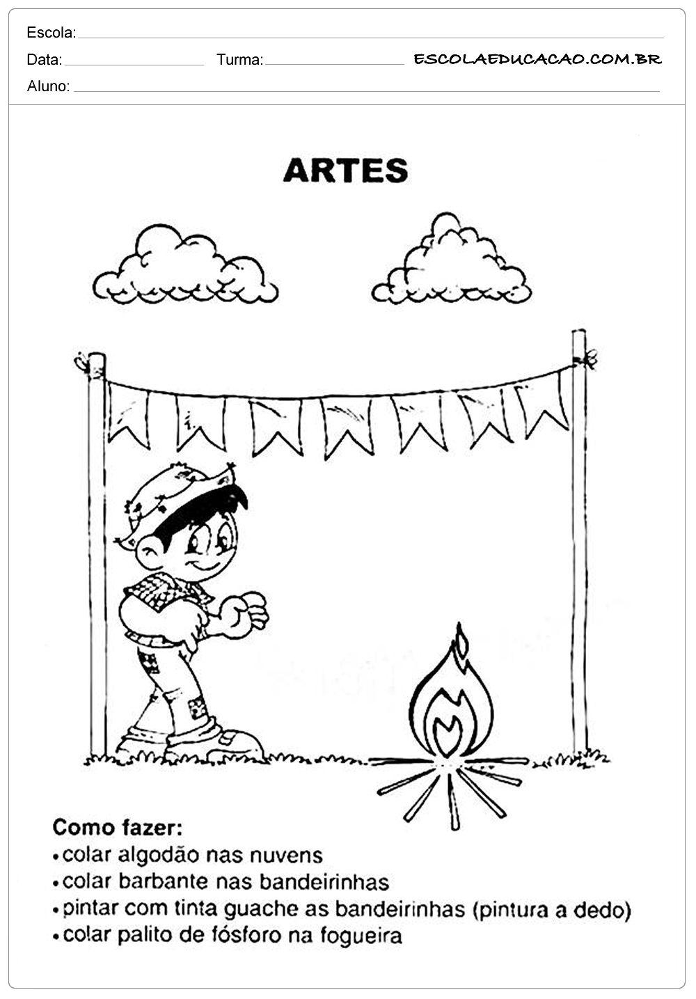 Atividades Festa Junina Para Educacao Infantil Artes