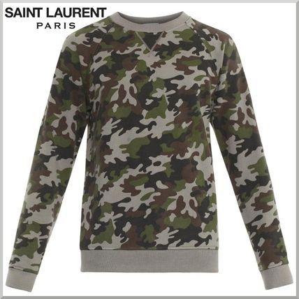 追跡NO付・送料無料★Saint Laurent 迷彩柄 スウェット 2015SS