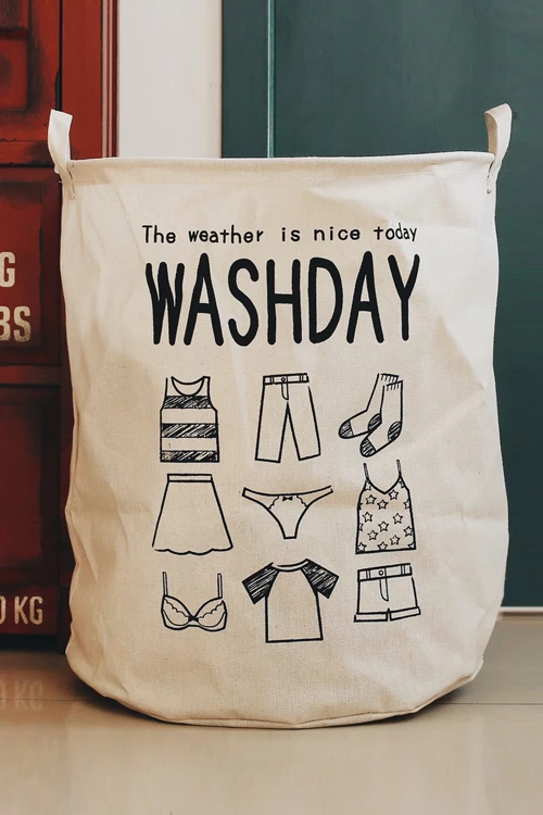 Wash Day Linen Laundry Bag With Images Laundry Bag Laundry
