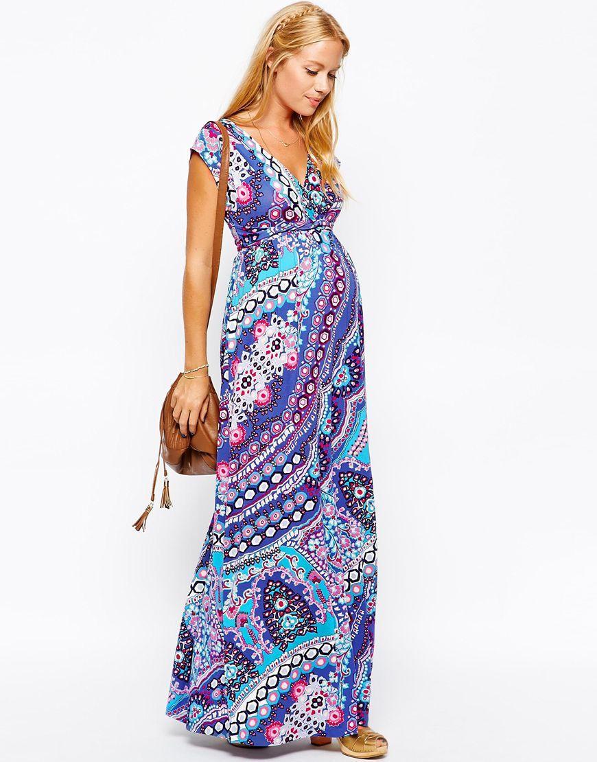 Maternity Exclusive Drape Maxi Dress | Maternity Dresses | Pinterest
