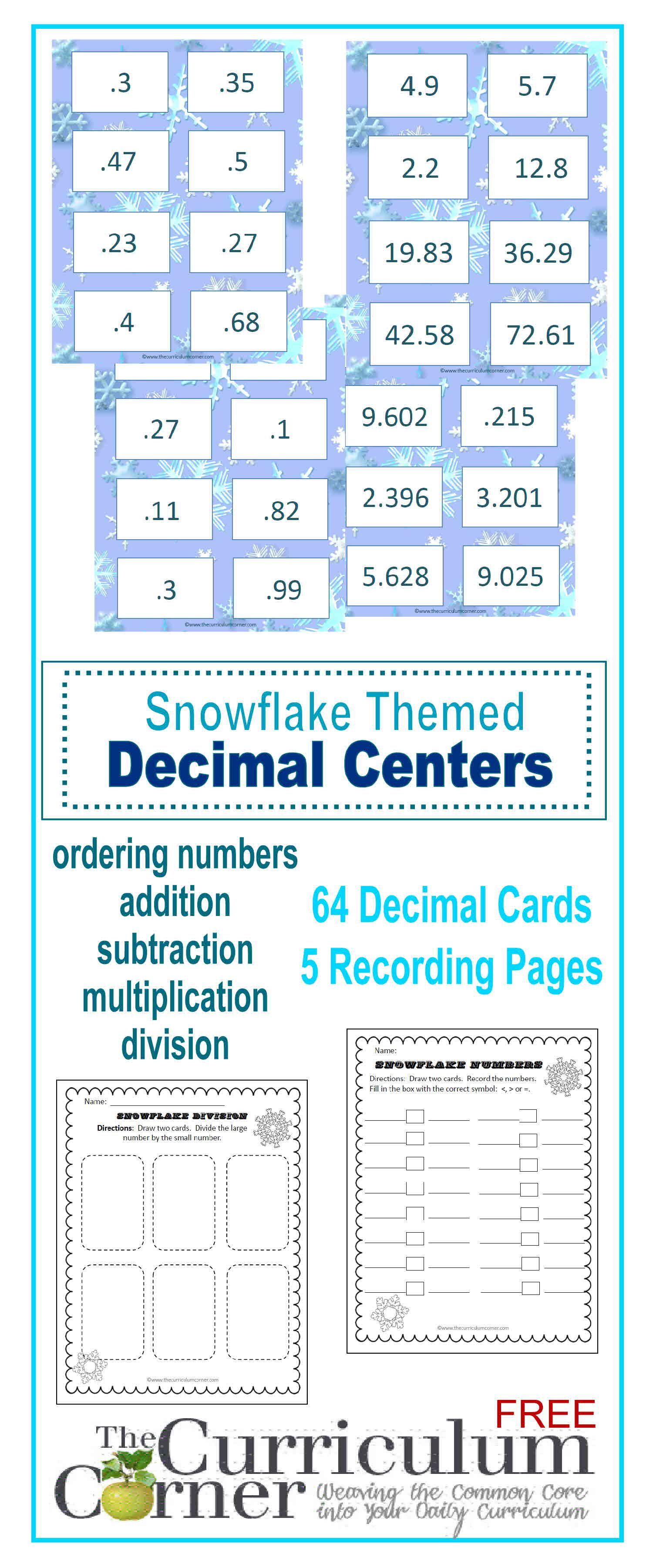 Decimal Centers | Curriculum, Math and Montessori math