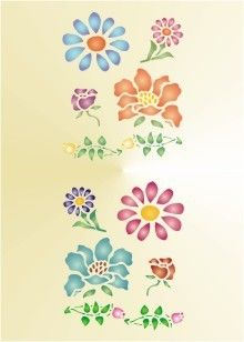image regarding Free Printable Flower Stencil Designs identified as Printable+Flower+Behaviors Free of charge Printable Bouquets Stencil