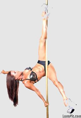 Logically stripper pole tricks are