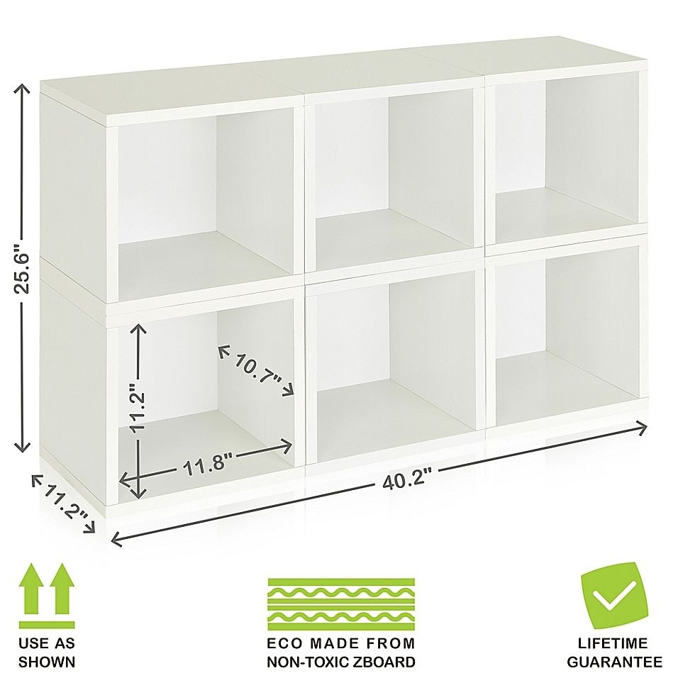 Way Basics Tool Free Assembly Zboard Paperboard Storage Cubes In White Set Of 6 Cubes Bed Bath Beyond Cube Storage Decor Cube Storage Diy Cube Storage Way basics storage cubes