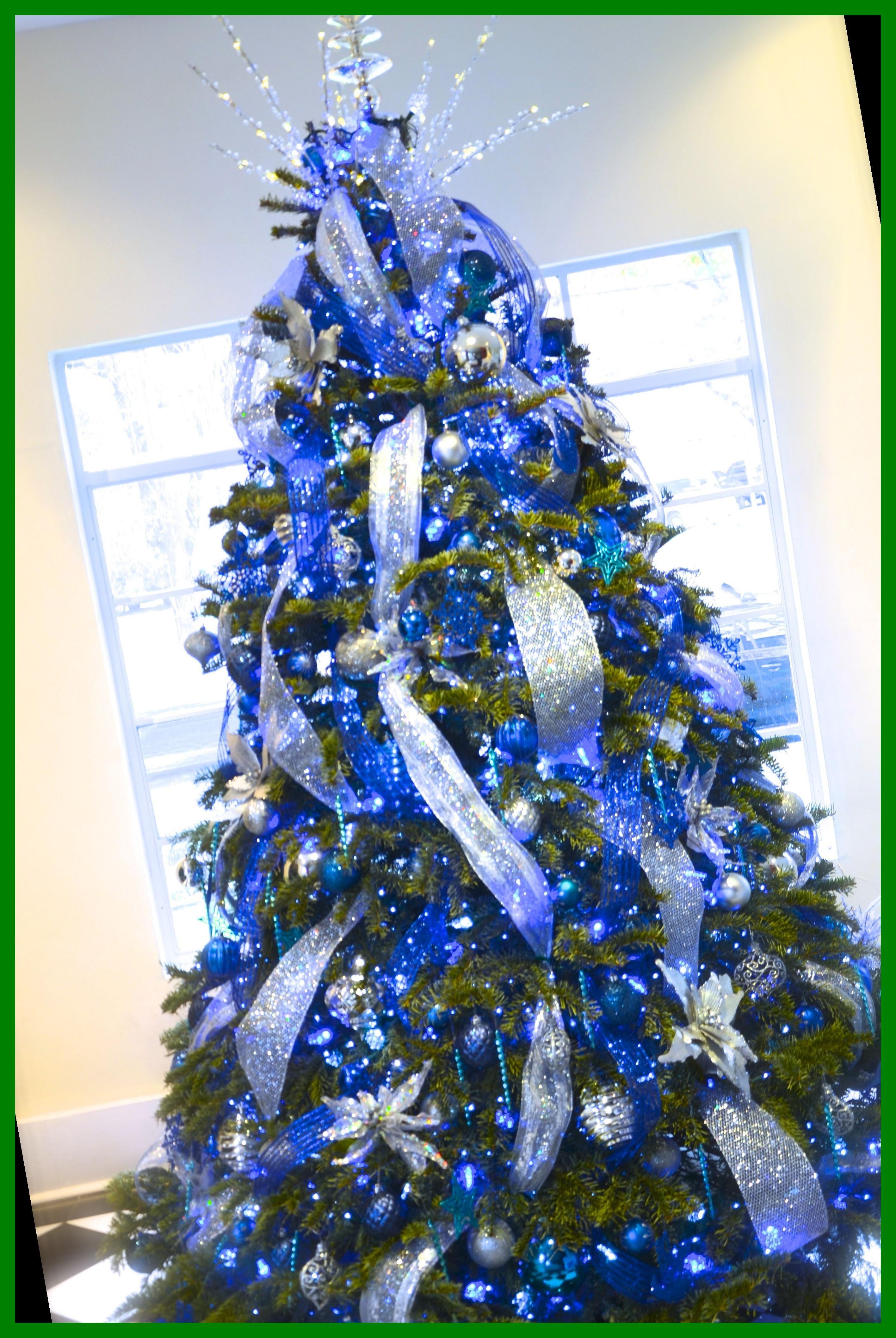 37 Christmas Tree Ideas Themed 2020 Blue Christmas Tree Decorations Cool Christmas Trees Christmas Tree Design