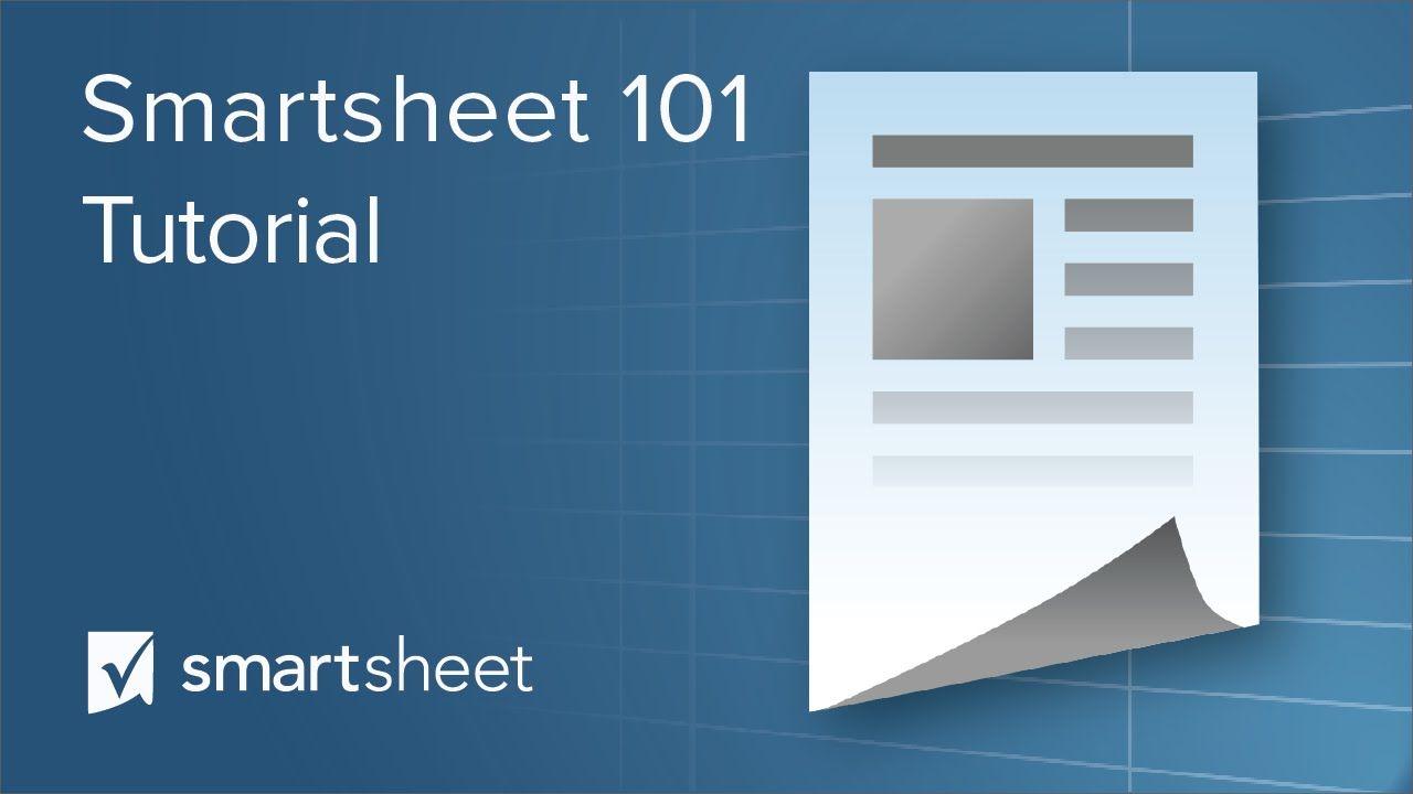 smartsheet 101 tutorial project management