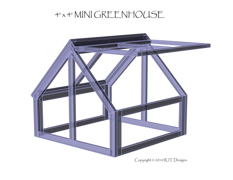 Free download. Simple plans for mini-greenhouses. 4\' x 4\' cold frame ...
