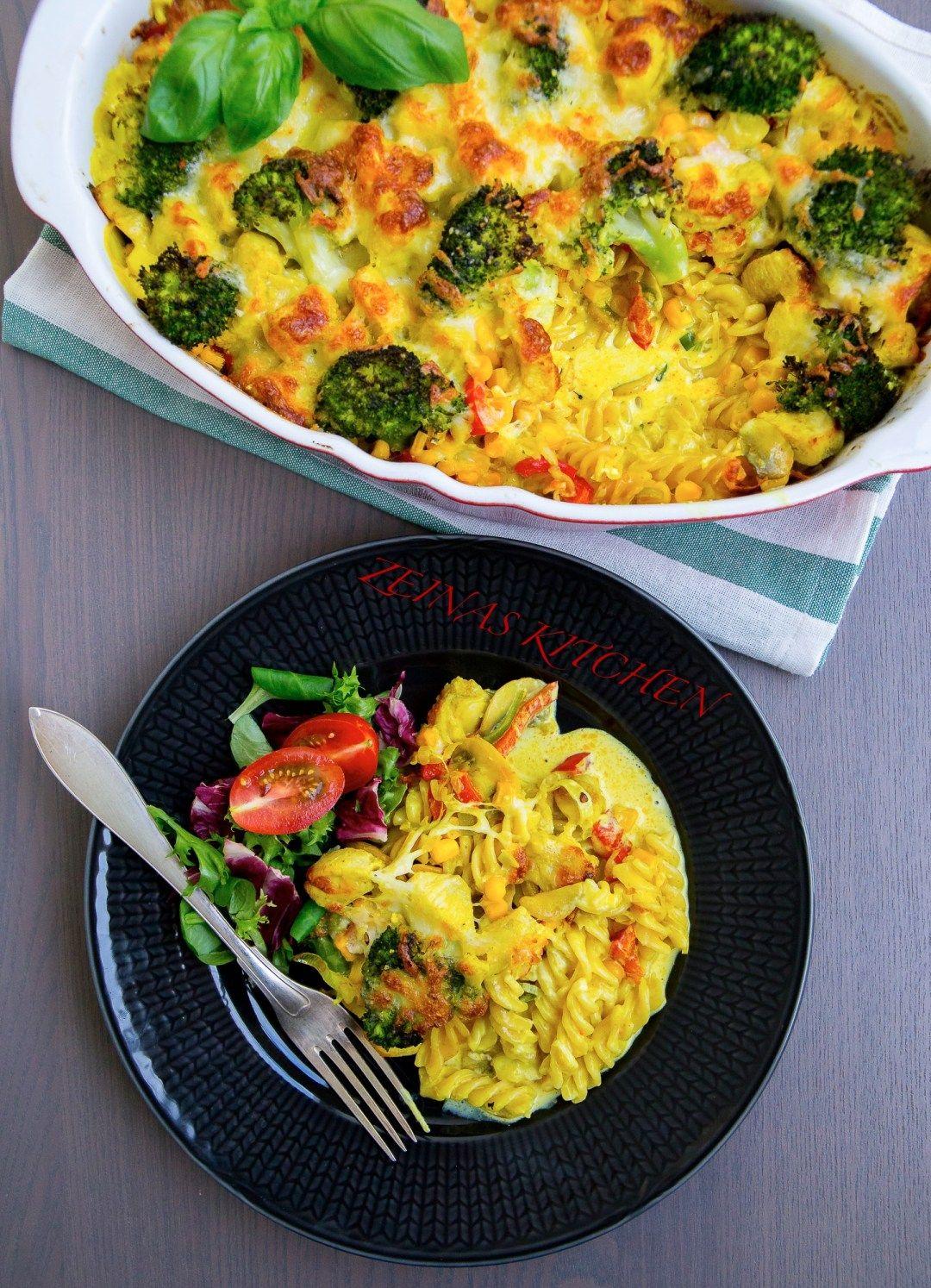 Pastagratang Med Kyckling Och Curry Zeinas Kitchen Recept Middag