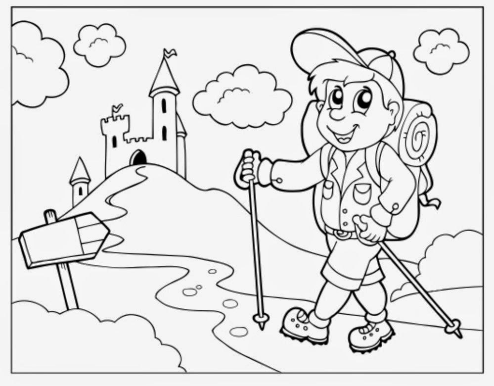 forest hiking trails coloring pages - photo#6