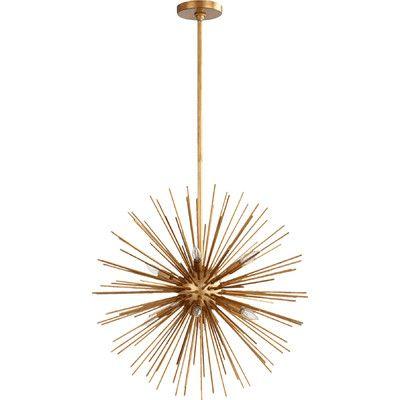 gold sputnik chandelier. Quorum Electra 8-Light Sputnik Chandelier Finish: Gold Leaf | Chandelier, Chandeliers And Lights