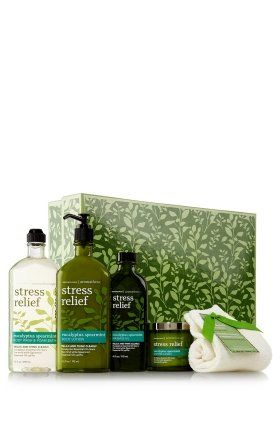 Bath and Body Works Aromatherapy EUCALYPTUS SPEARMINT Peace on Earth Large Gift Set including Body Lotion,Body Wash, Candl...