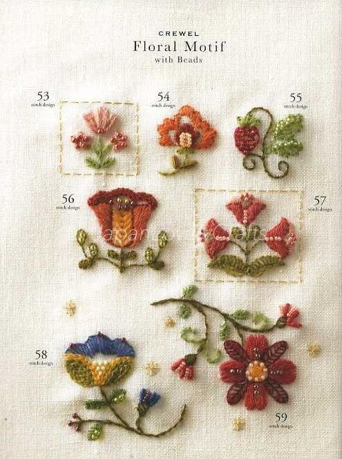 Bead Embroidery Stitch Samplers - Japanese Craft Book for Motif ...