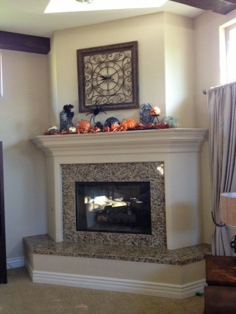 Decoration Brilliant Corner Fireplace Hearth Designs With