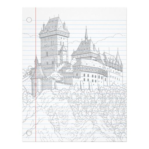 Castle Fantasy Notebook Paper  Notebooks Business And Letterhead
