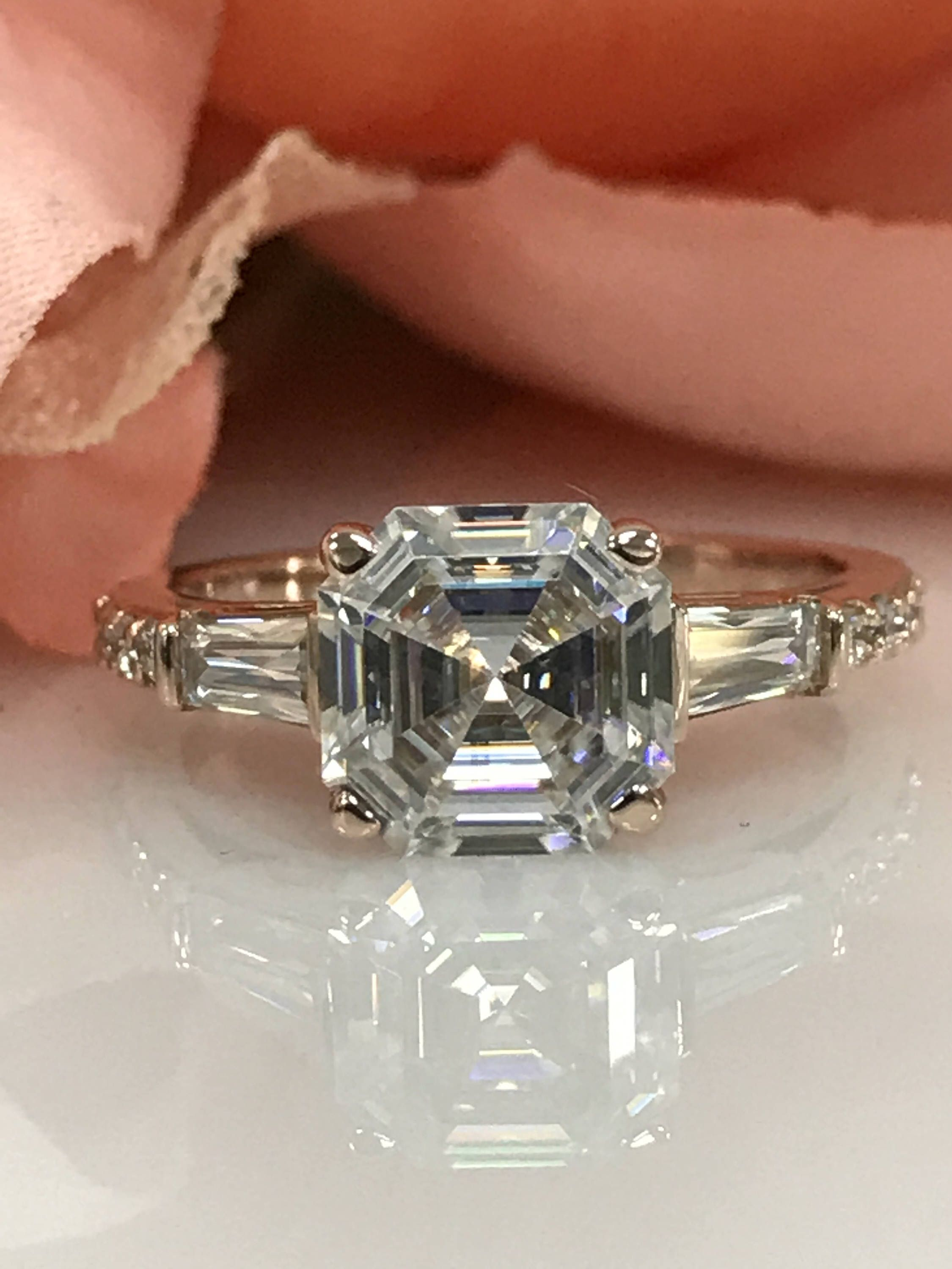 jewellery baguette asscher london two configure cut ring by rings diamond engagement