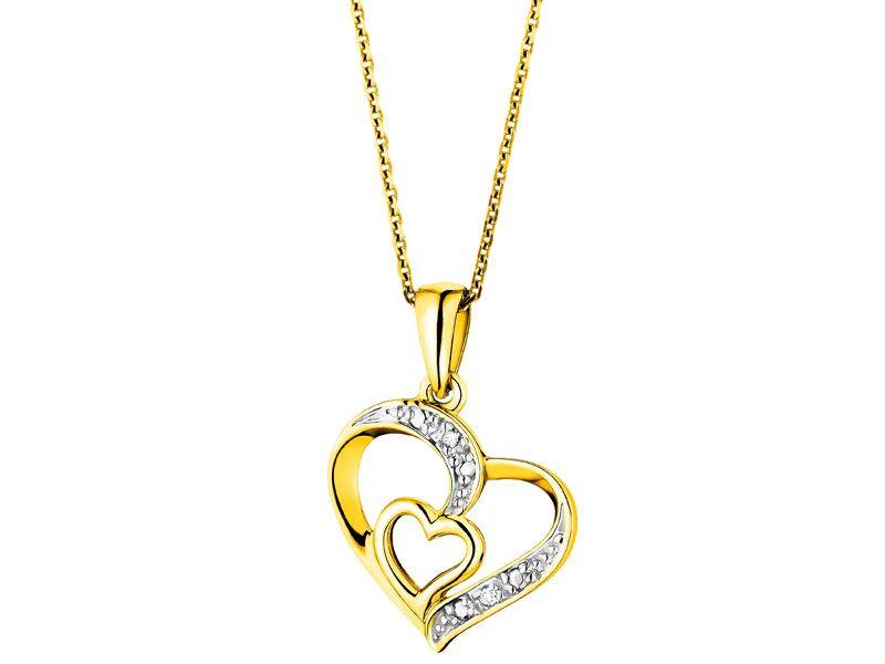 393440e33ec502 Zawieszka z żółtego złota z diamentami - wzór 101.192 / Apart ...