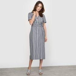 Striped Kimono Dress atelier R - Midi & Knee Length Dresses