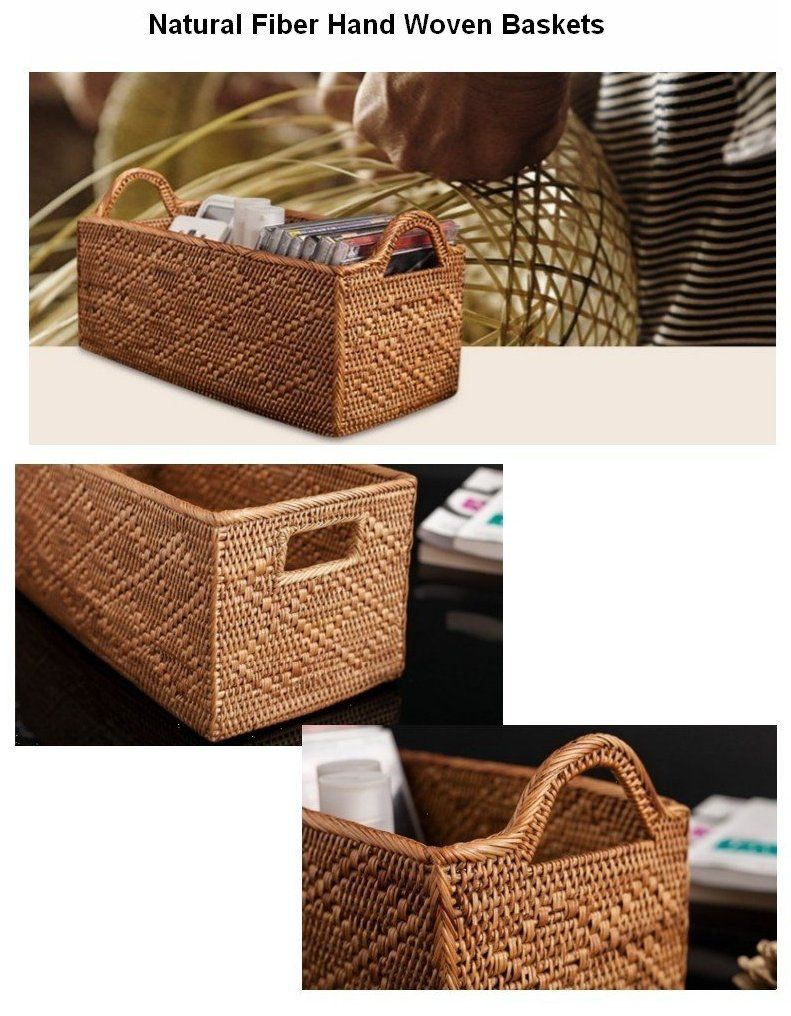 Indonesia Hand Woven Storage Basket Natural Fiber Baskets Small Rustic Basket Baskets Storage Natural Fiber Baskets Storage Baskets Woven Baskets Storage