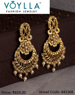 4f0ffae75 Looking for artificial earrings online for the best prices in India for  men/women then Voylla welcomes you. We are an online store offers exclusive  range of ...