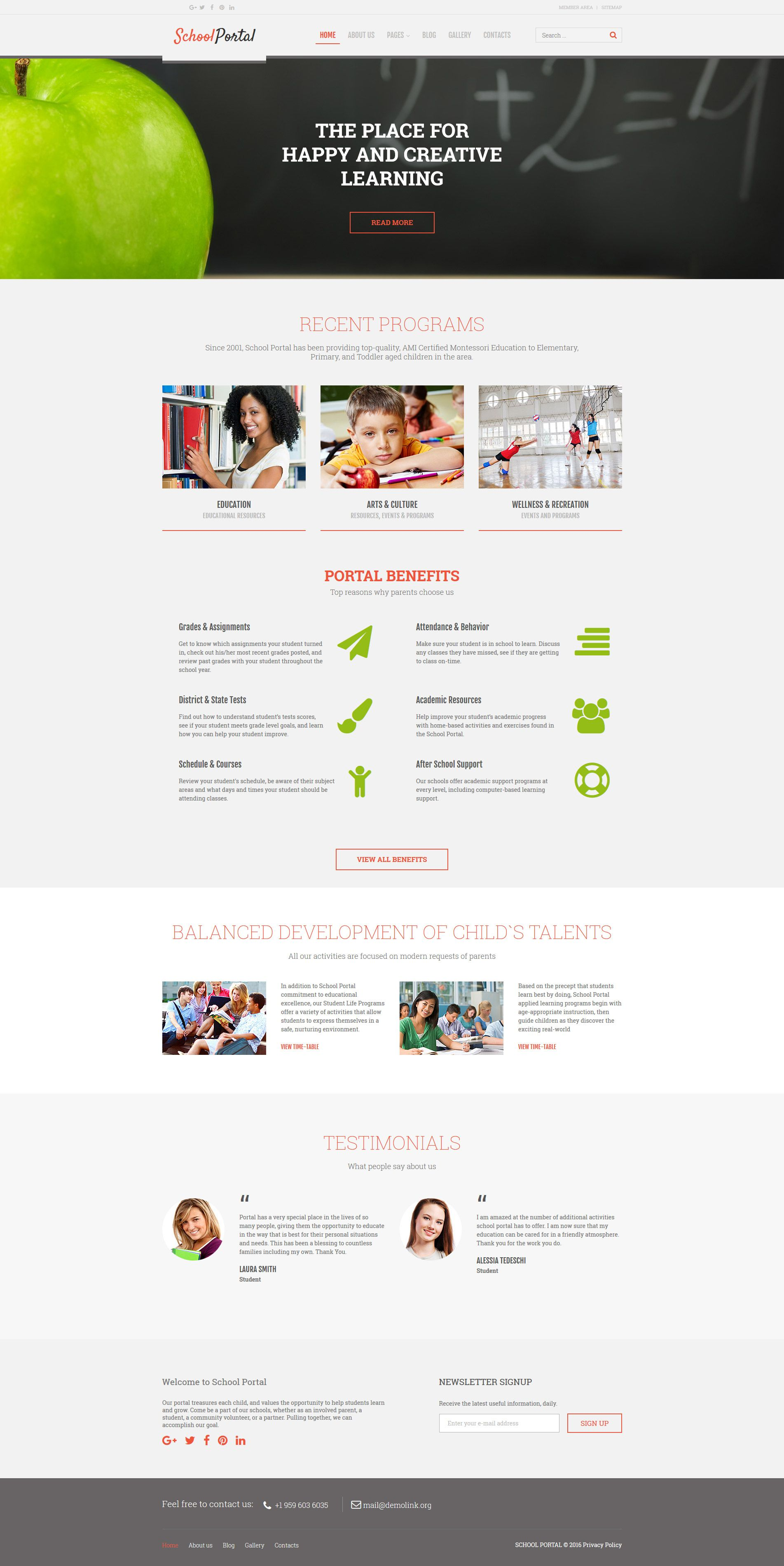 Online Education Joomla Theme School Portal Joomla Templates Online Education