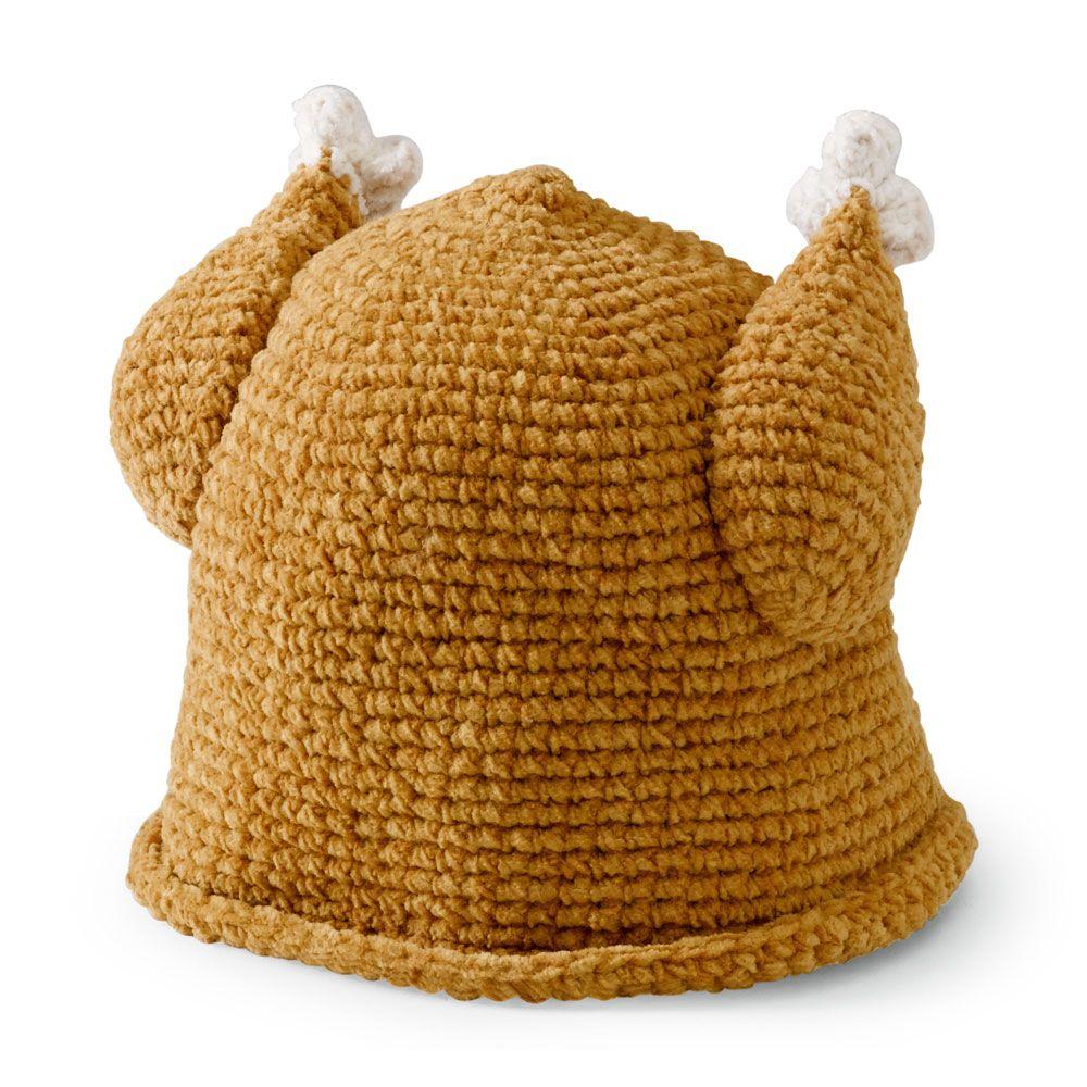 238ce800a Roast chicken hat | Crochet Patterns | Turkey hat, Crochet kids hats ...