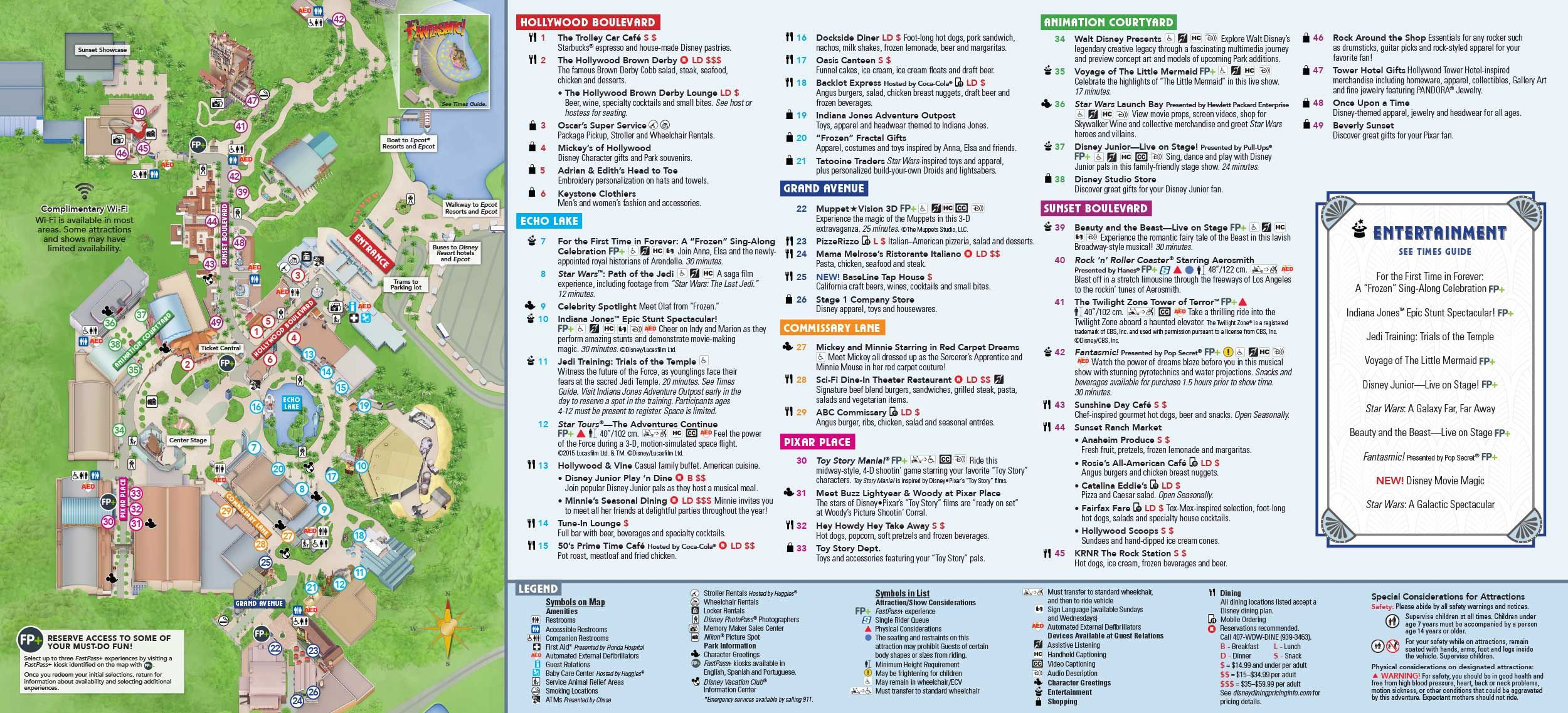 Disney Hollywood Studios map | Disney\'s Hollywood Studio Planning ...