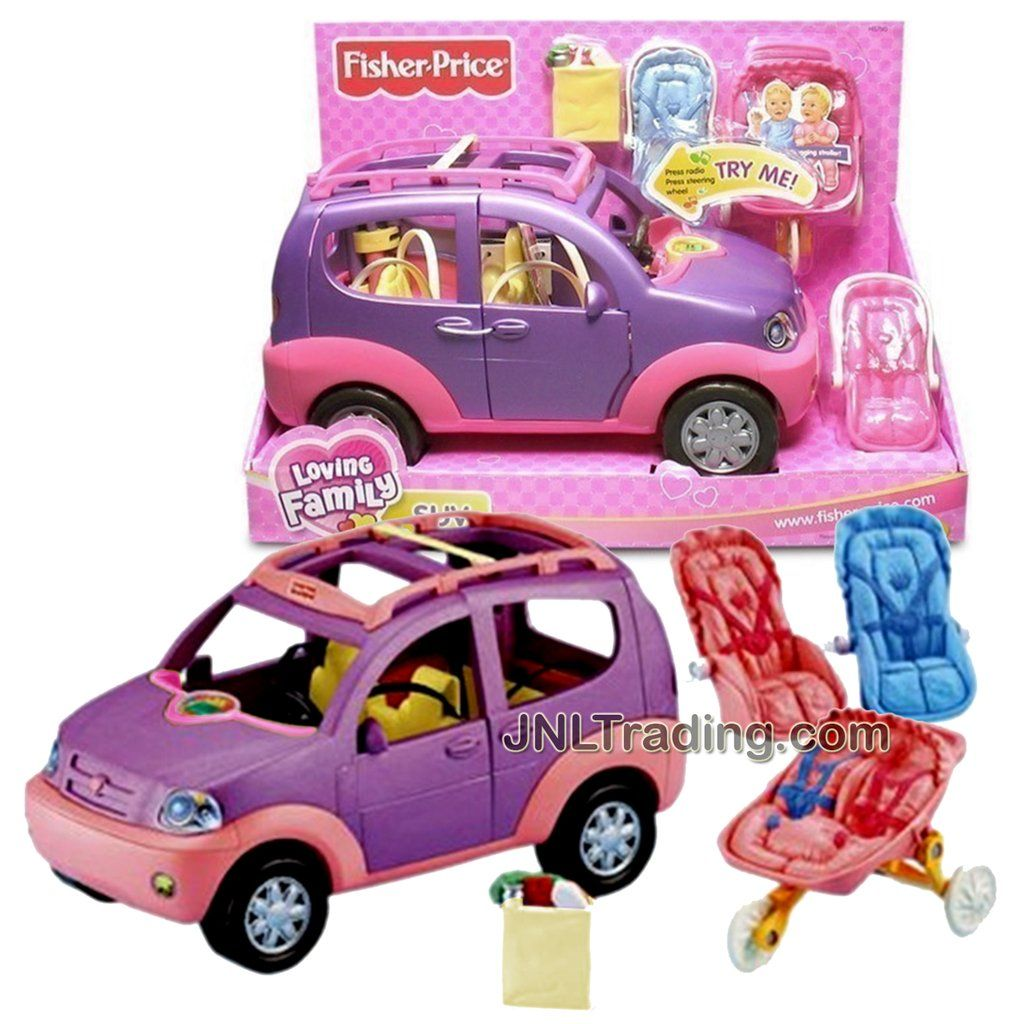 Year 2005 Loving Family Series Electronic Suv With Sounds Plus 2 Baby Car Seats Stroller And Grocery Bag Baby Car Seats Loving Family Dollhouse Baby Doll Nursery