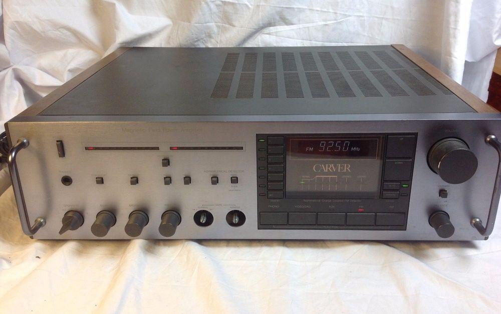rare carver mxr 150 magnetic field power amplifier receiver phono rh pinterest co uk Carver Car Audio Bob Carver Audio
