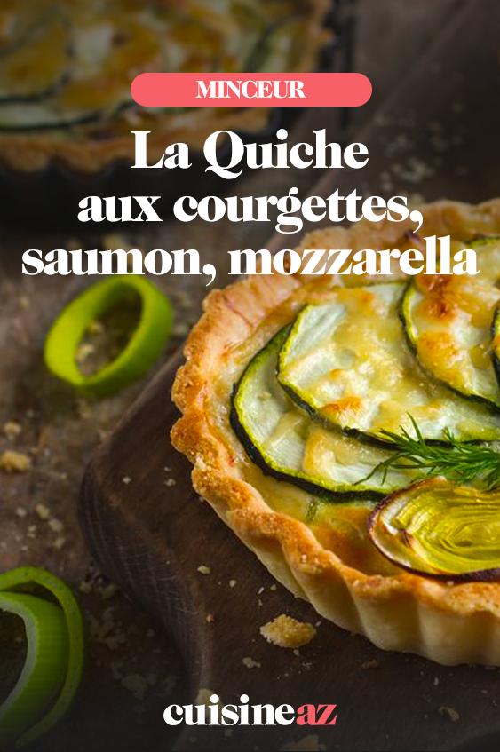 Quiche aux courgettes, saumon et mozzarella