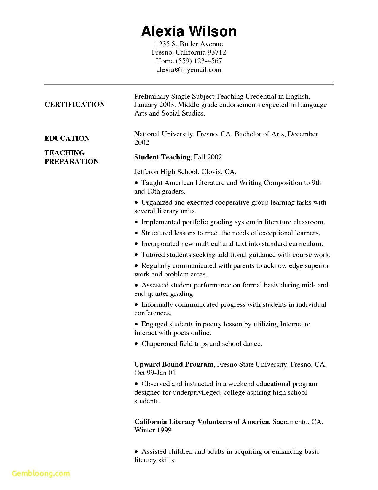 Adding Resume To Linkedin Beautiful Adding Linkedin Profile To Resume Teacher Resume Template Teacher Resume Teaching Credential