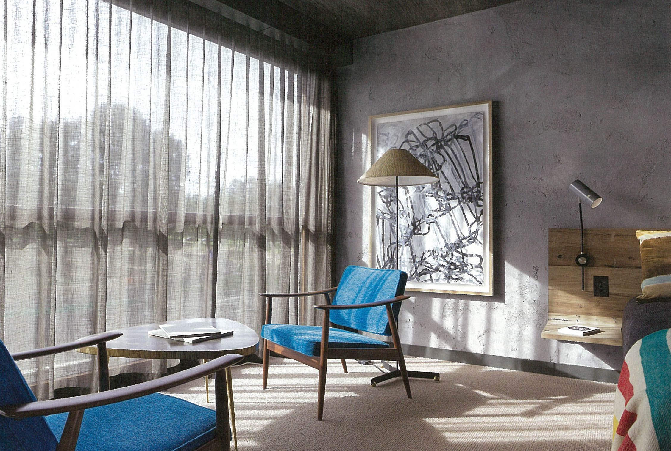 Hospitality and hotel window treatments sheer shades solar screen - Warwick Fabrics Aesop Sheer Drape Has Been Used Throughout The Exciting New Hotel Hotel Sheer Drapesdraperyartichokewindow