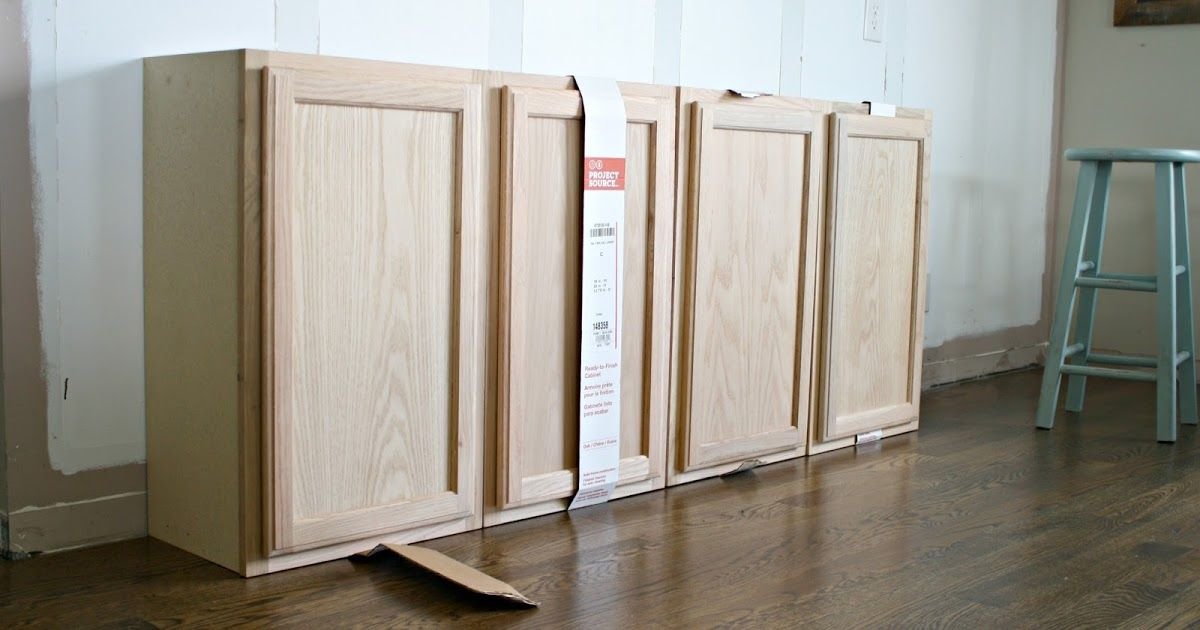 How To Create Custom Built Ins With Kitchen Cabinets DIY And - Unfinished discount kitchen cabinets