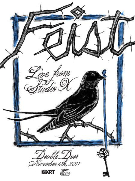 Feist gig poster by Nate Azark