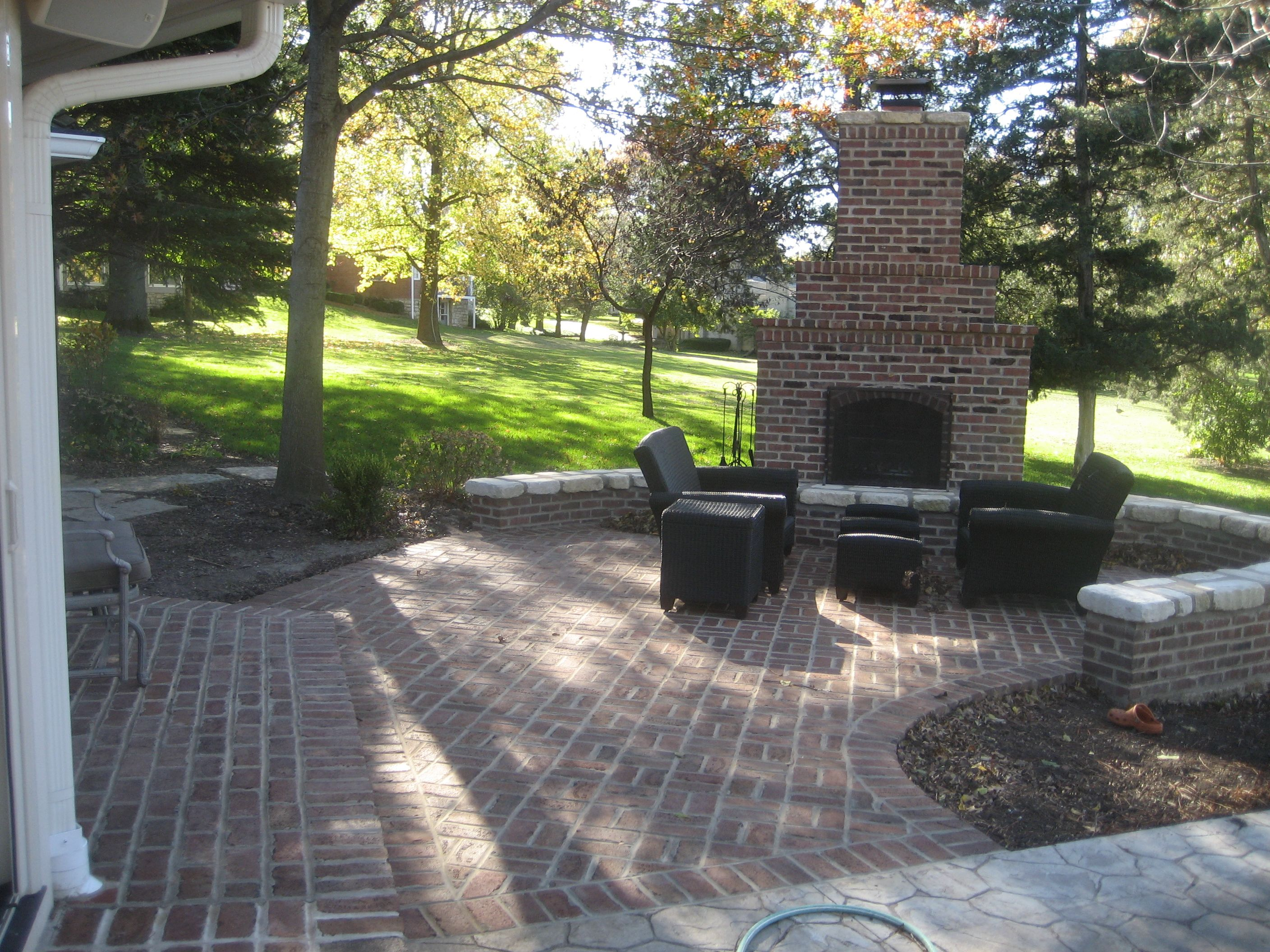 Outdoor fireplace patio outside in pinterest patio