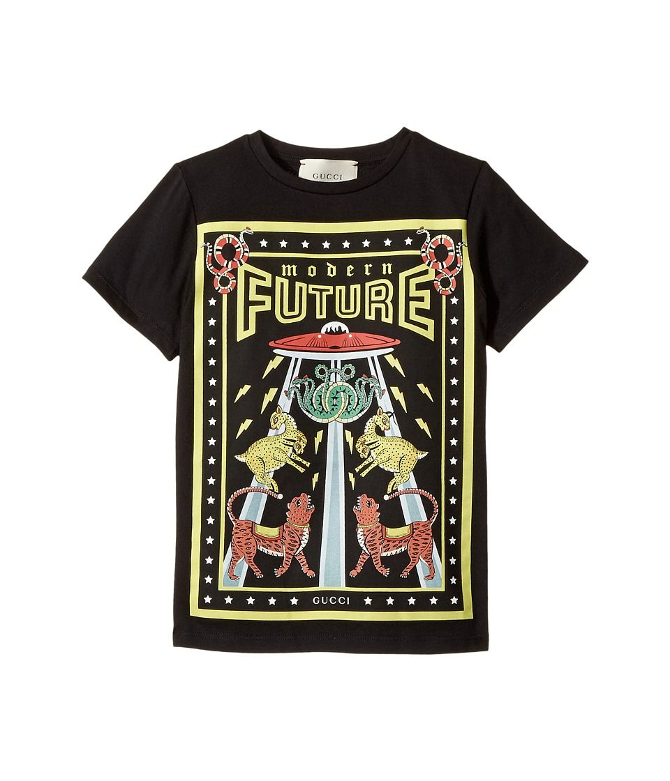 f4f209f006c2 Gucci Kids T-Shirt 475738X3G10 (Little Kids Big Kids) Boy s T Shirt  Black Yellow