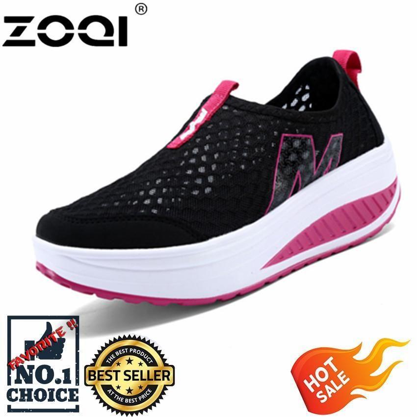 Zoqi Wanita Sneaker Fashion Olahraga Kasual Sepatu Nyaman