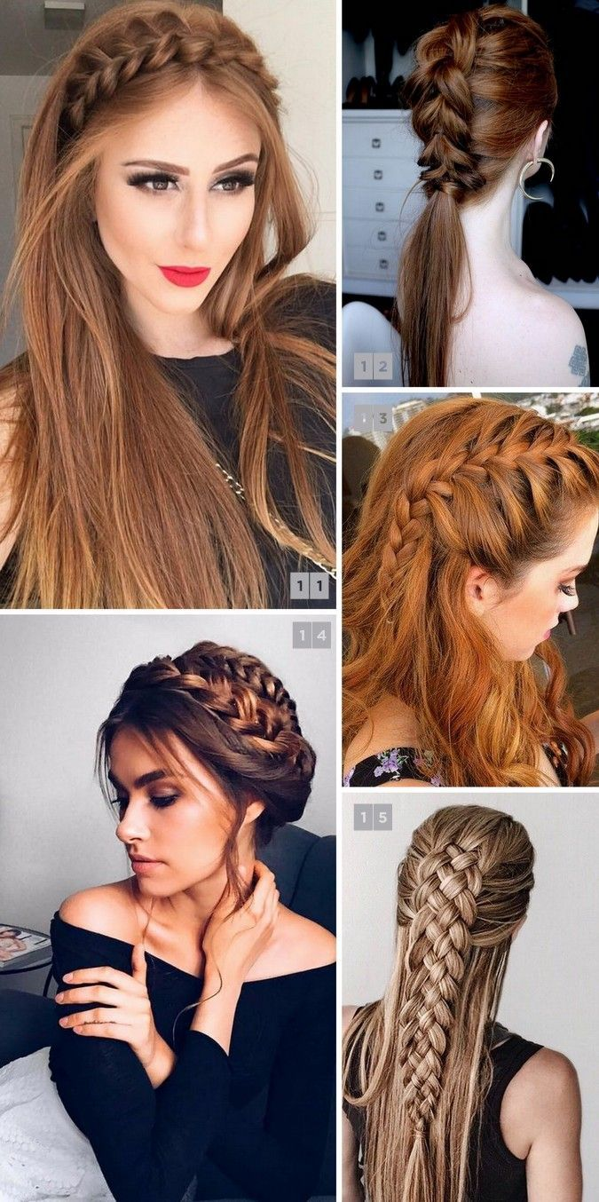 penteados com tranças lindos e populares no pinterest hair