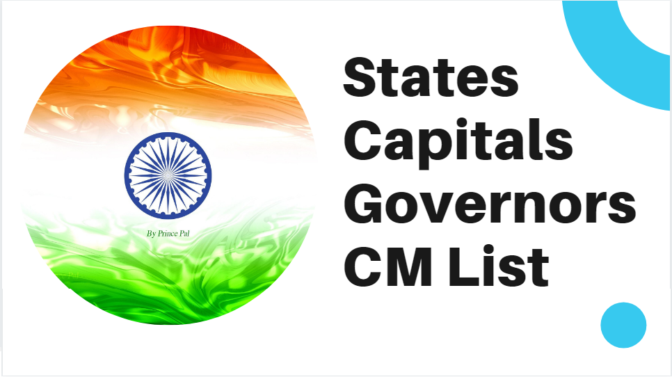Get all states chief minister list with capital, and