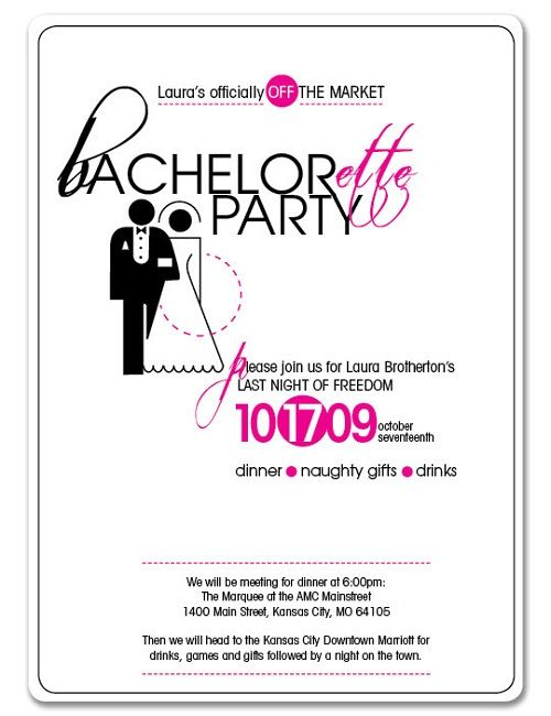 Image result for joint bachelor bachelorette party invitation – Hens Party Invitation Wording