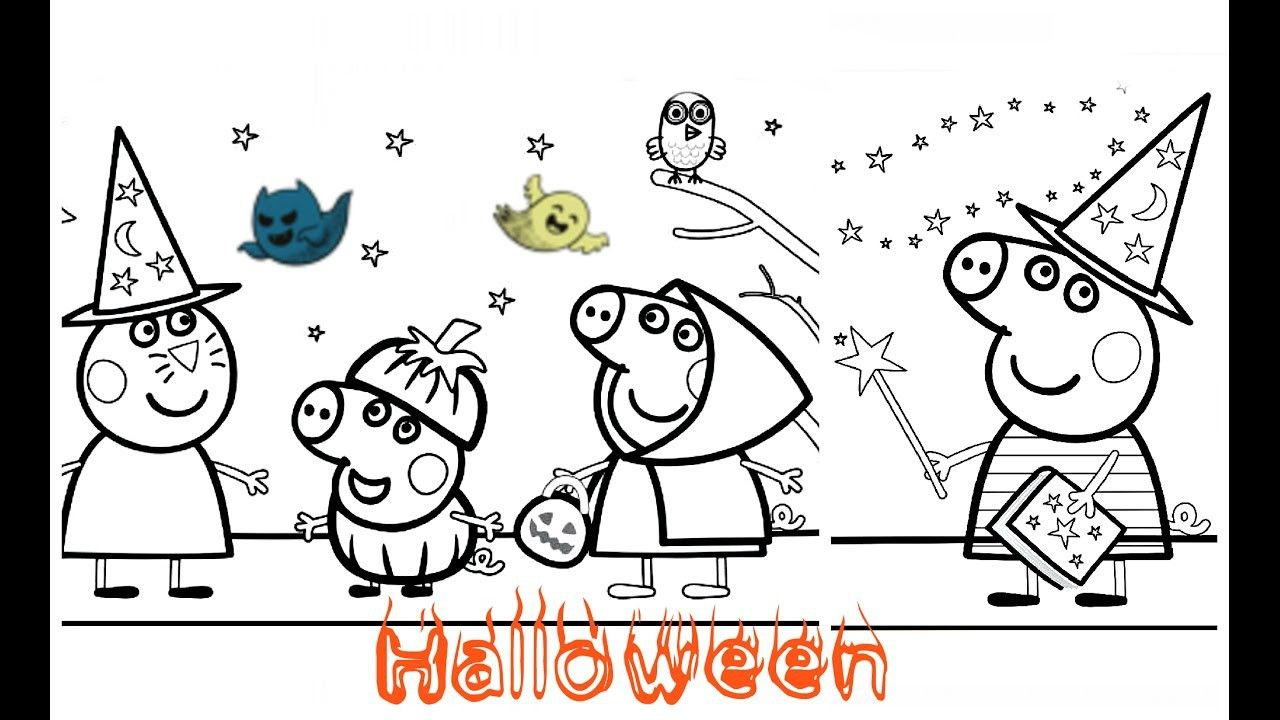 Peppa pig halloween coloring book u from the thousand pictures on