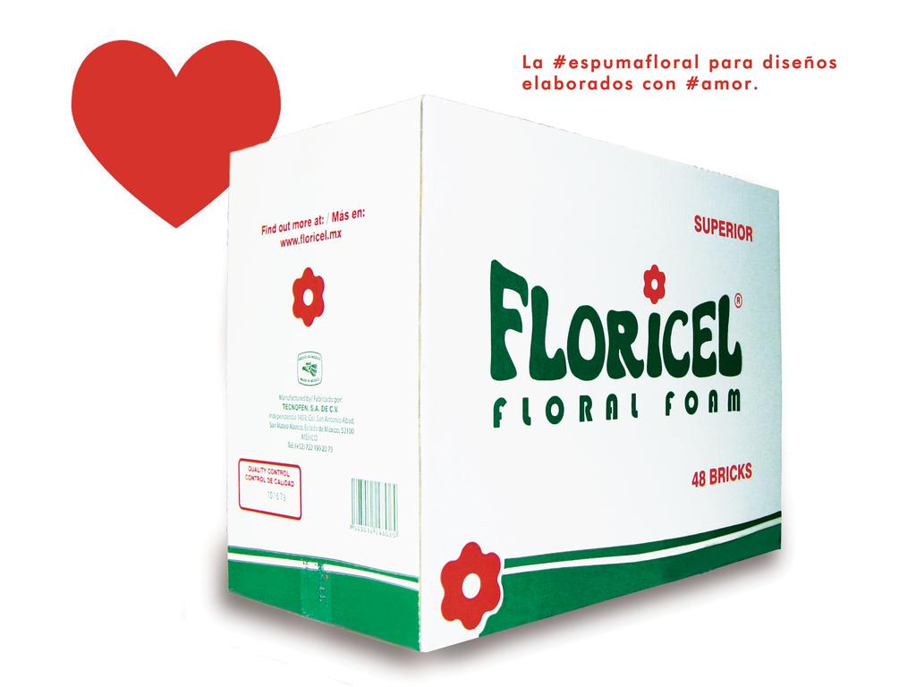 #Obvio  #EspumaFloral #FLORICEL es el secreto detrás de los mejores #diseñosflorales #Sanvalentin2015 #AmorAmorAmor