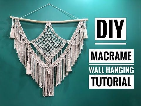 Macrame Wall Hanging Tutorial  DIY Boho Home Decor Ideas  Supper Easy  YouTube