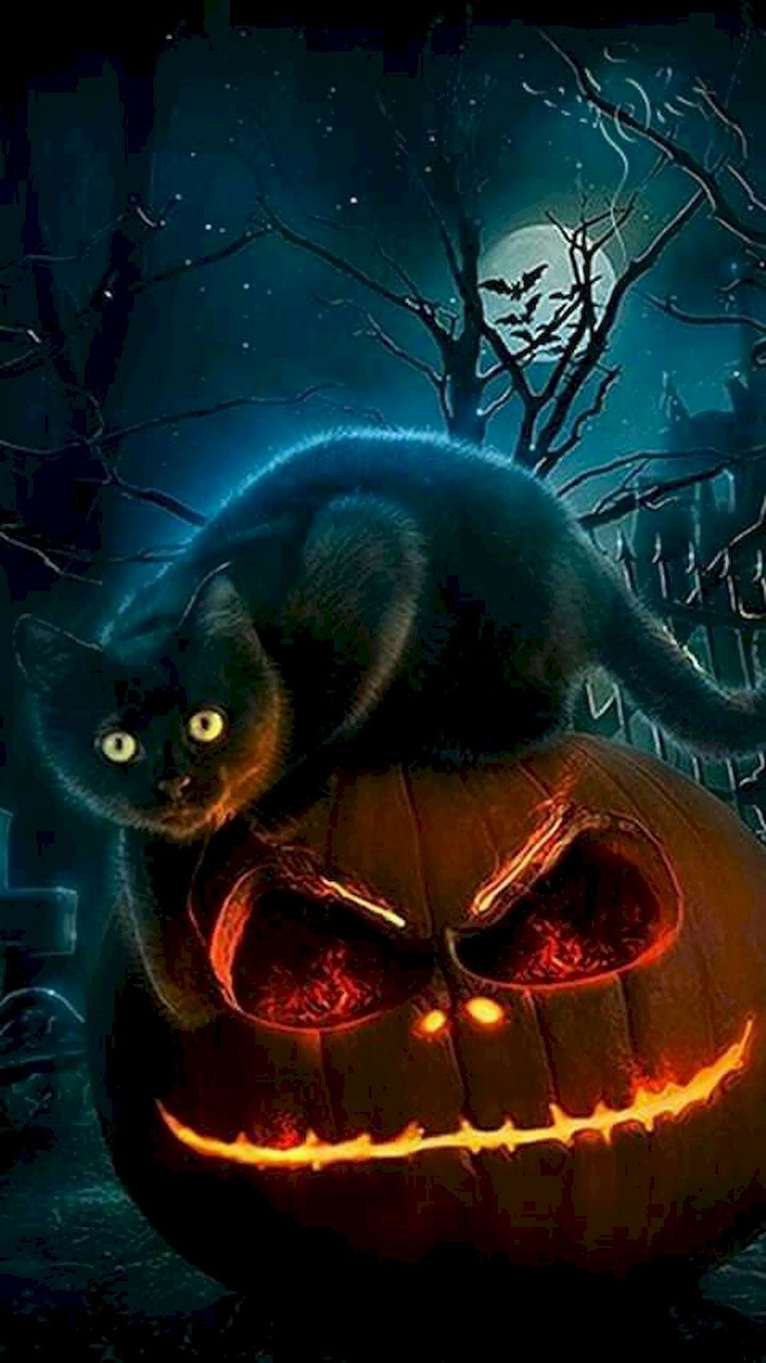25 Spooky Halloween Wallpaper Iphone With Images Halloween Wallpaper Halloween Painting Halloween Cat