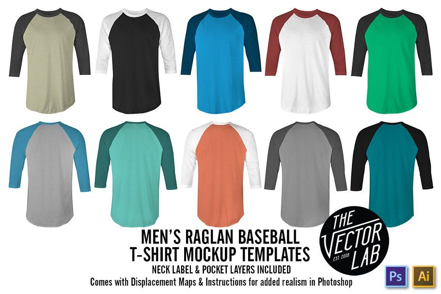 Download Men S Raglan Mockup Templates Psd Ai In 2020 Clothing Mockup Mens Raglan Shirt Mockup