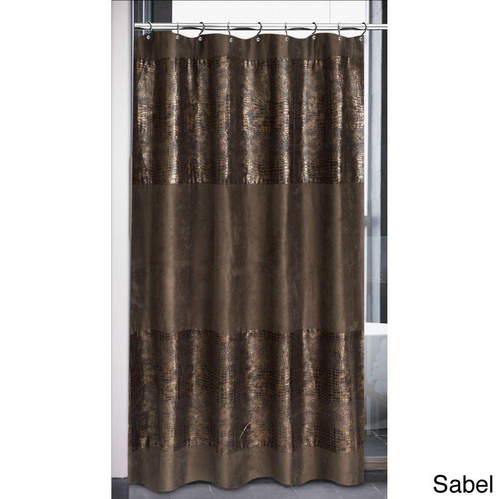 Faux Suede Cobra Design Shower Curtain | Overstock.com Shopping ...
